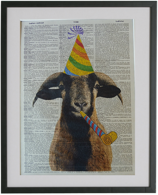 Goat Print No.98, animals