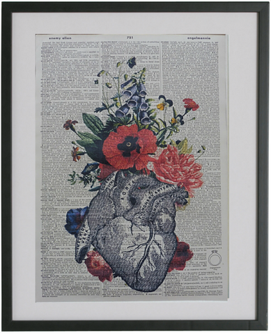 Heart and Flowers Print No.237