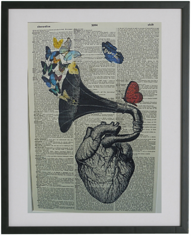 Heart and Butterflies Print No.353