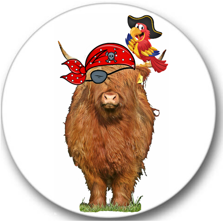 Highland Cow #2 Sticker Seals No.274, animals