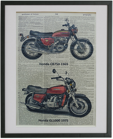 Honda Motorcycle Print No.133