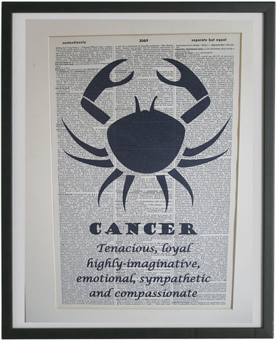 Cancer Zodiac Sign Wall Art No.848