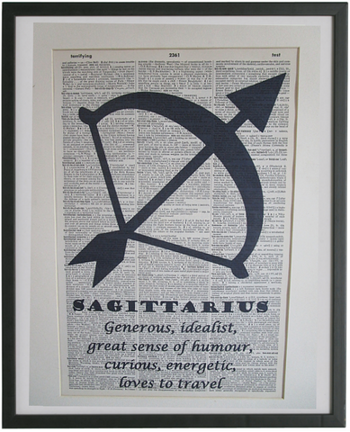 Sagittarius Zodiac Sign Wall Art No.809