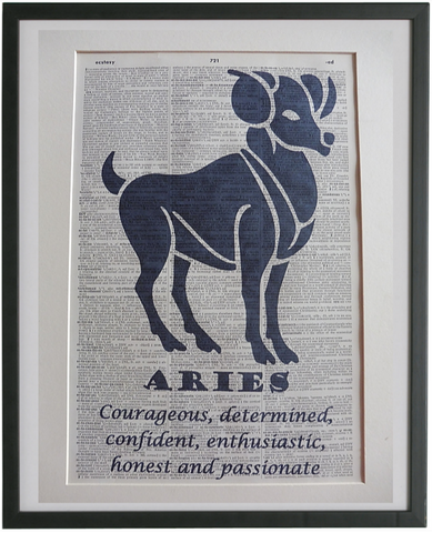 Aries Zodiac Sign Wall Print No.952