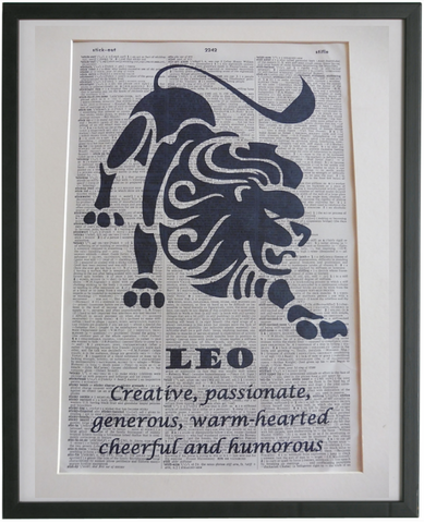Leo Zodiac Sign Wall Print No.948