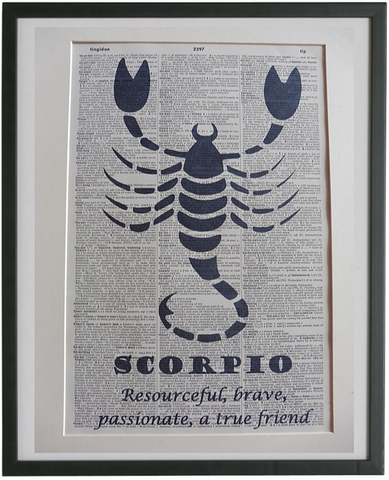 Scorpio Zodiac Sign Wall Print No.951