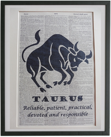 Taurus Zodiac Sign Wall Print No.950