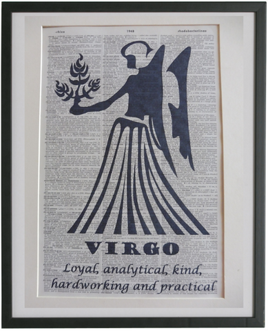 Virgo Zodiac Sign Wall Print No.949