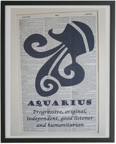 Aquaris Zodiac Sign Wall Art No.566