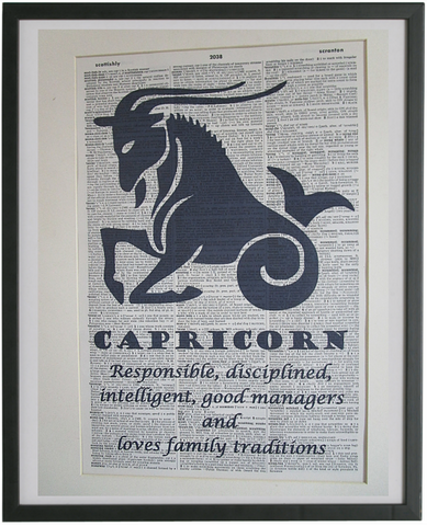 Capricorn Zodiac Sign Wall Art No.663
