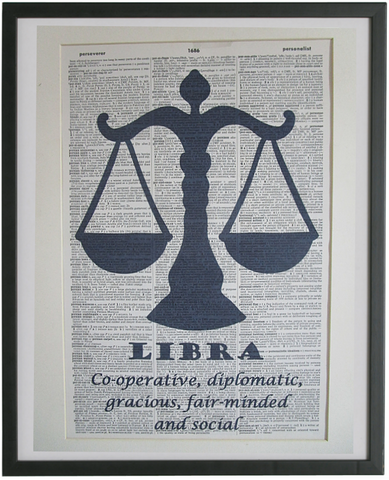 Libra Zodiac Sign Wall Art No.568