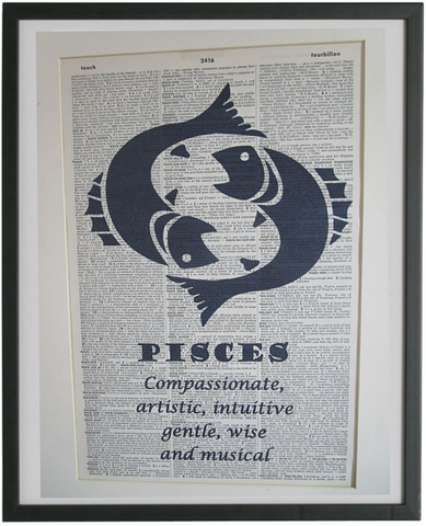 Pisces Zodiac Sign Wall Art No.648