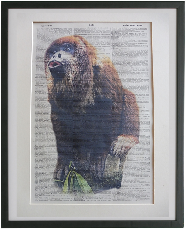 Howler Monkey Wall Print No.126, animals