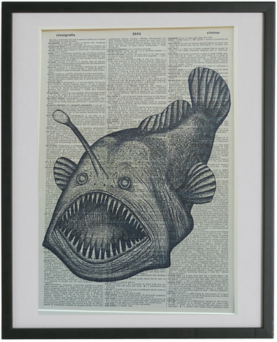 Humpback Angler Fish Print No.325