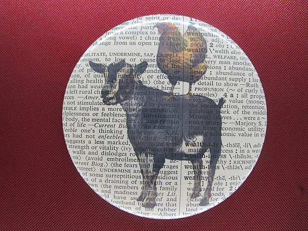 Goat and Chicken Button Badge No.544, animals