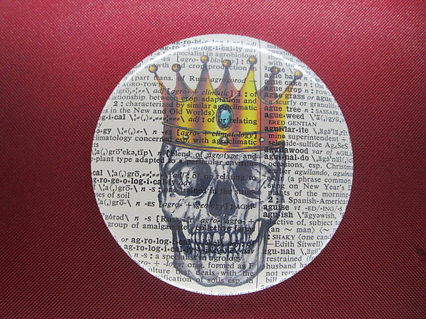 Skull and Crown Fridge Magnet No.811, gothic