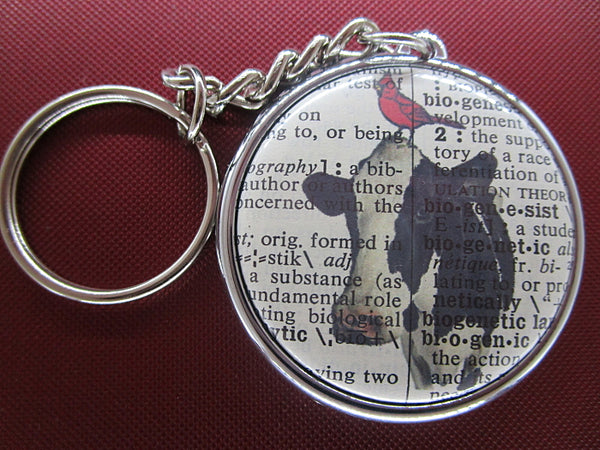 Cow and Bird Keyring No.176, animals