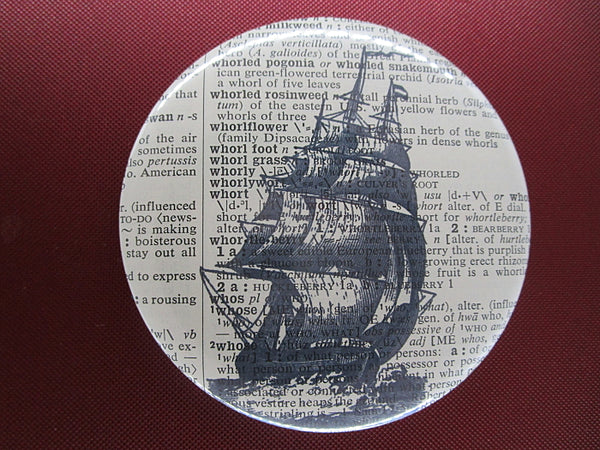 Clipper Sailing Ship Button Badge No.571
