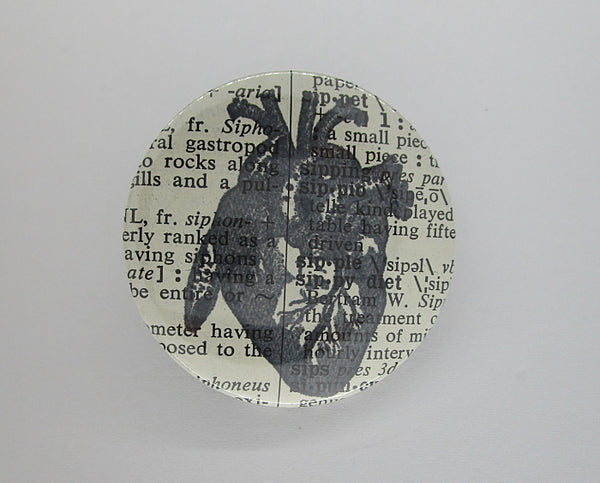 Heart Vintage Button Badge No.260