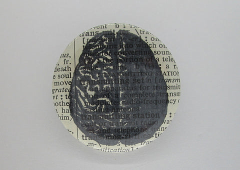 Brain #1 Button Badge No.202