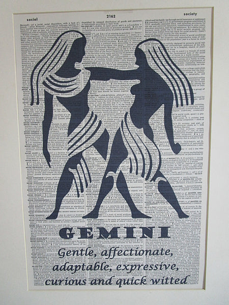 Gemini Zodiac Sign Wall Art No.647