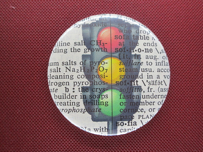 Traffic Lights Button Badge No.289, miscellaneous