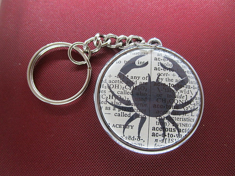 Cancer Zodiac Sign Keyring No.848