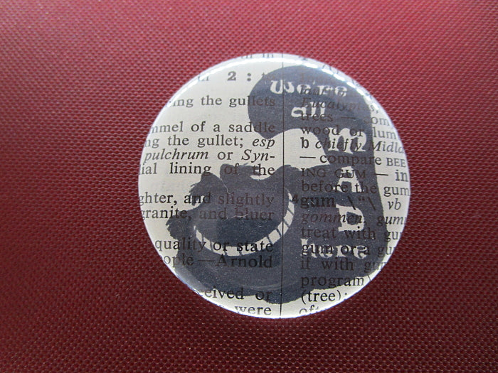 Alice in Wonderland We're All Mad Here Button Badge No.585