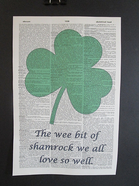 St. Patrick's Day Shamrock Wall Print No.995