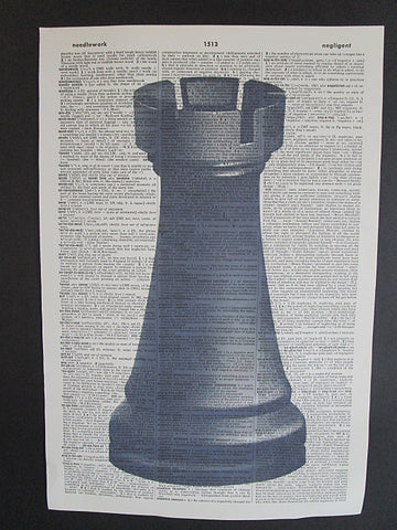 Rook Chess Piece Wall Art No.1012