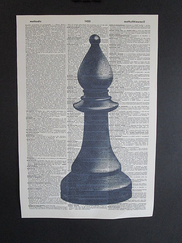 Bishop Chess Piece Wall Art No.1010