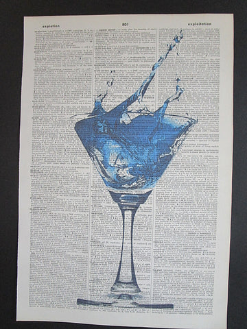 Blue Lagoon Cocktail Wall Art No.700