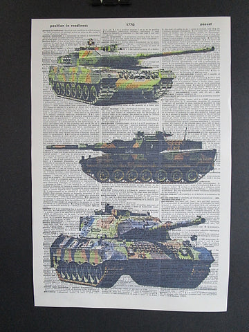 Army Tanks #3 Print No.1060