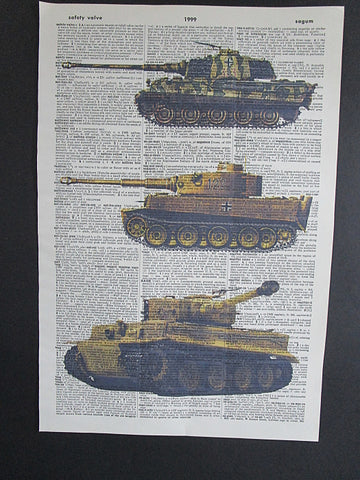 Army Tanks #4 Print No.1061