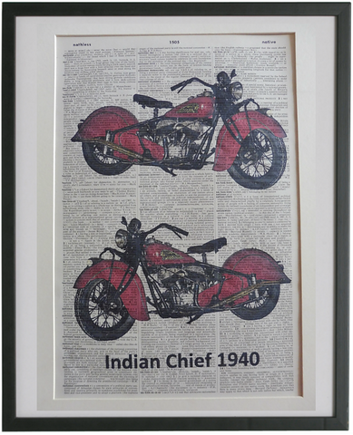 Indian Chief Motorcycle Print No.930