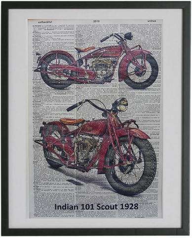Indian Scout Motorcycle Print No.659