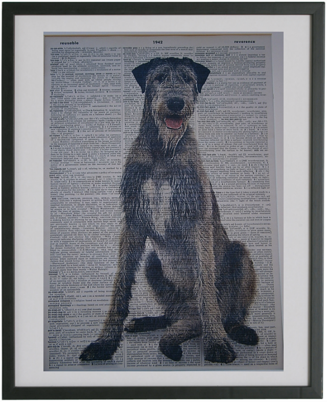 Irish Wolfhound Dog Print No.162
