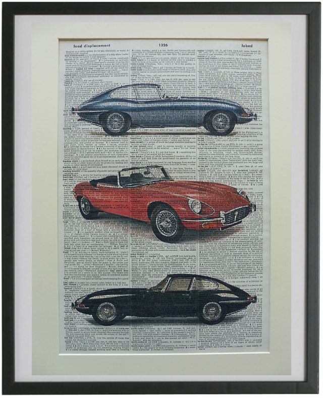 Jaguar e-Type Car Wall Art No.729