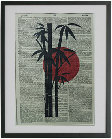 Japanese Bamboo Tree Print No.110