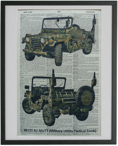 Army Jeep Wall Art No.155