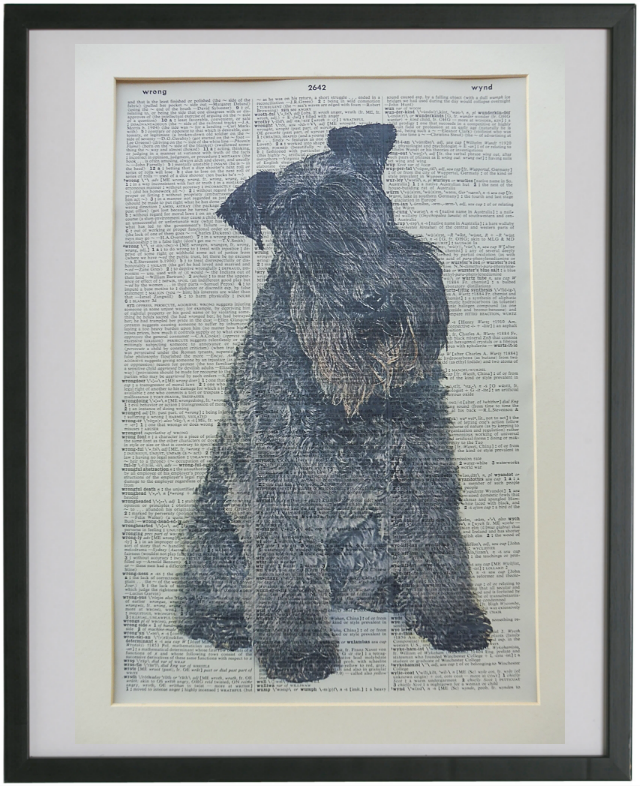 Kerry Blue Terrier Dog Print No.778