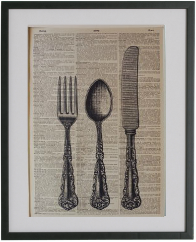 Cutlery Print No.409, miscellaneous