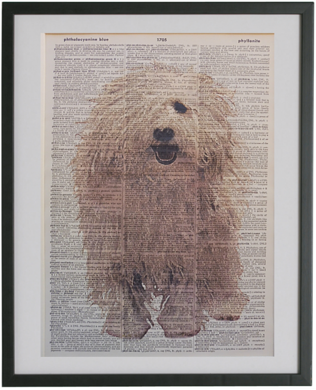Komondor Dog Print No.417