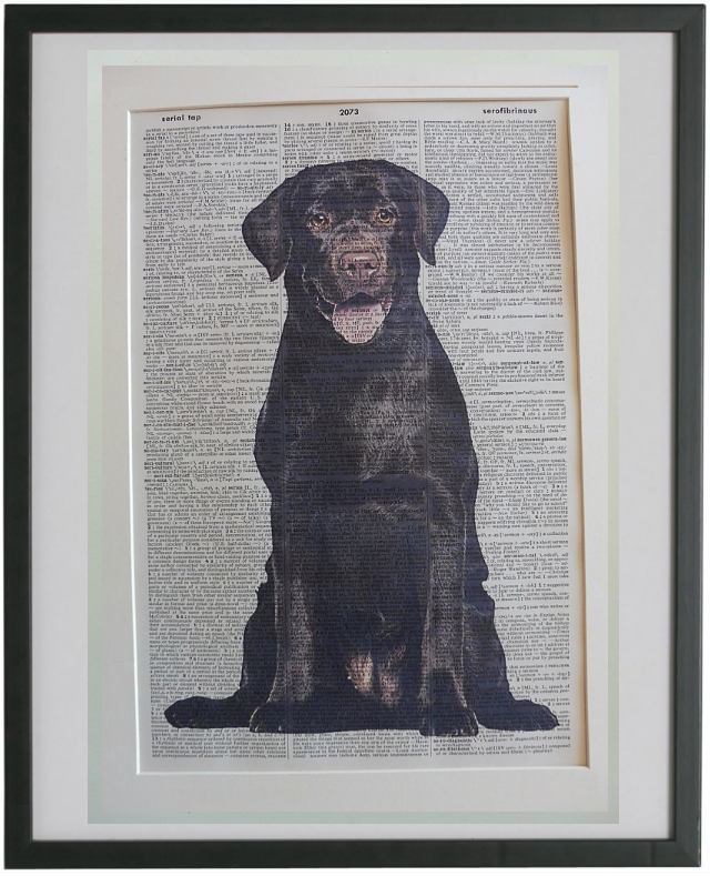 Labrador Chocolate Dog #3 Wall Print No.850