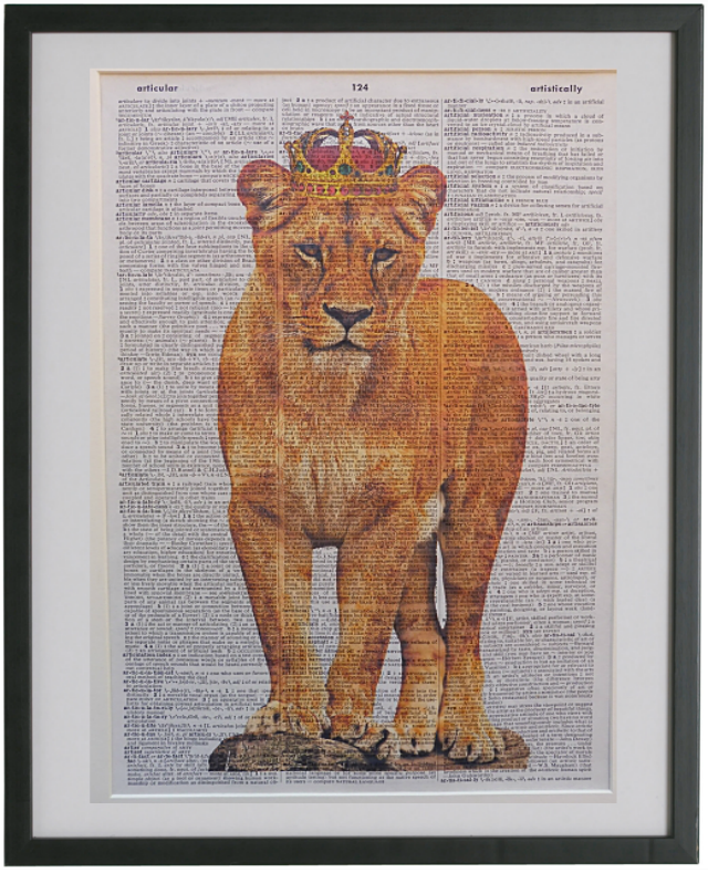 Lioness Print No.423, animals