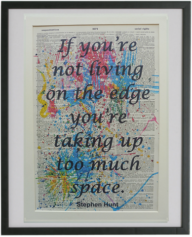 Living on the Edge Quote Print No.813, inspirational quote prints
