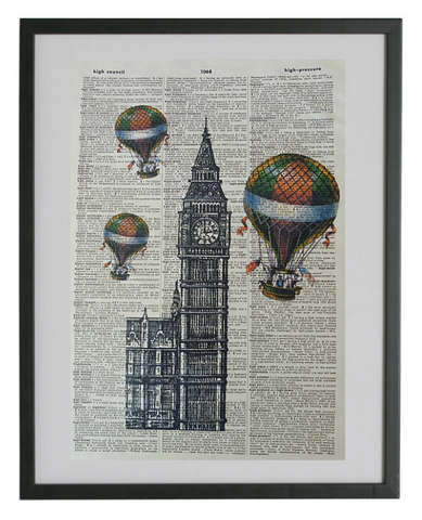 London Big Ben Wall Print No.198