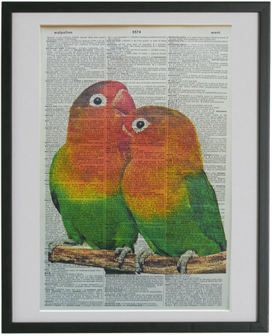 Love Birds Print No.555, bird print