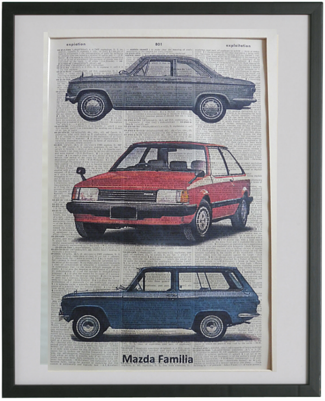 Mazda Familia Car Print No.711