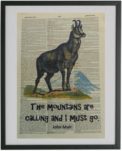 The Mountains Are Calling Quote Print No.742, inspirational quote prints